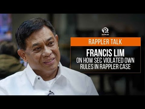 Rappler Talk: Francis Lim on how SEC violated own rules in Rappler case