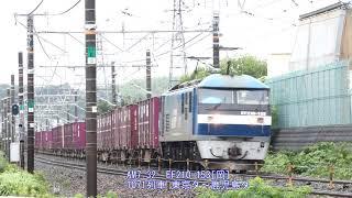 2018/06/24 JR貨物 鷲津カーブ 朝の貨物列車6本