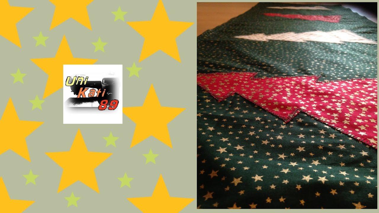 weihnachtlicher tischl ufer tannenbaum n hen weihnachten. Black Bedroom Furniture Sets. Home Design Ideas