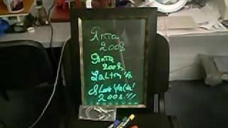Информационное табло с подсветкой