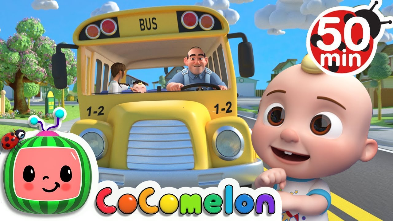 Wheels on the Bus (School Version)  + More Nursery Rhymes & Kids Songs - CoComelon