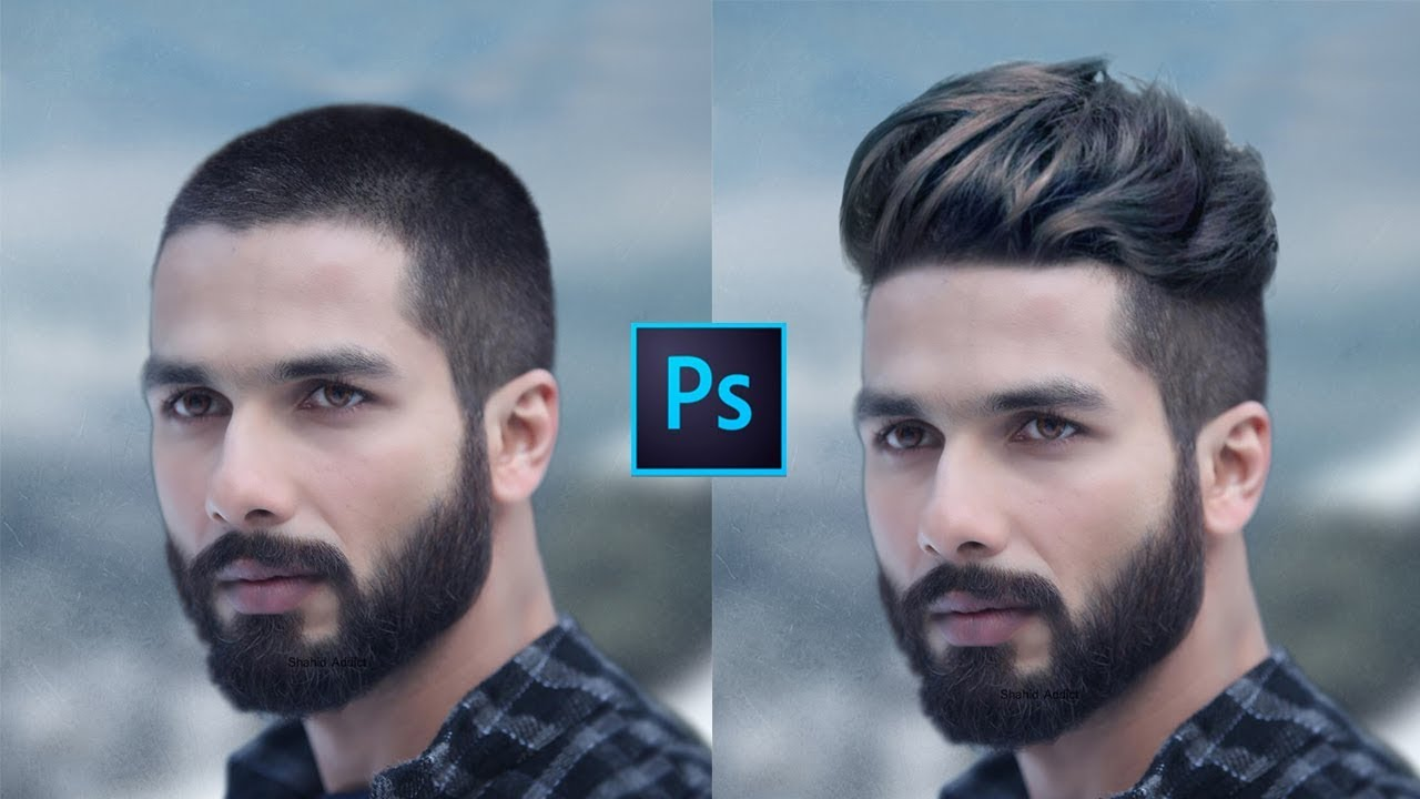 How To Change Hair Style In Short Hair Head Men Photoshop Tutorial
