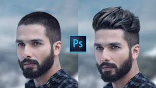 How To Change Hair Style | In Short Hair Head MEN Photoshop Tutorial