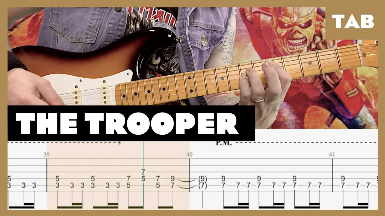 The Trooper Iron Maiden Cover | Guitar Tab | Lesson | Tutorial