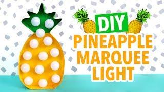 DIY Pineapple Marquee Light - HGTV Handmade