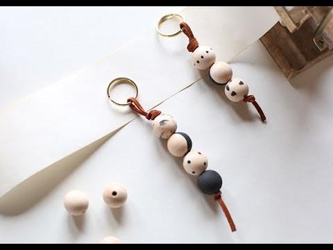Wooden Bead Keychain Tutorial