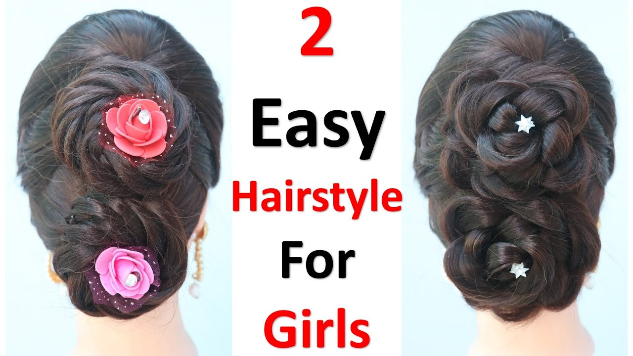 2 easy hairstyle for girls || new hairstyle || simple hairstyle || quick hairstyle || hairstyle