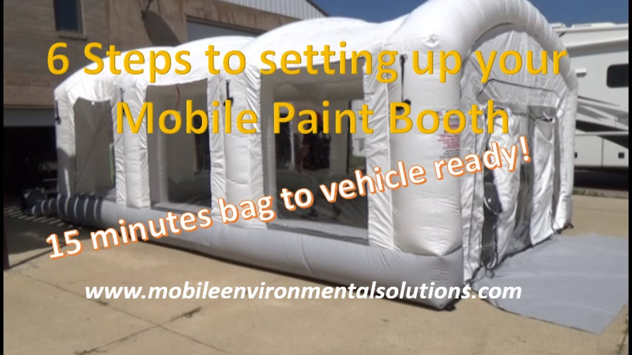 Mobile Paint Booth From Bag To Paint Ready In 15 Minutes! Indoor Or Outdoor  Use!