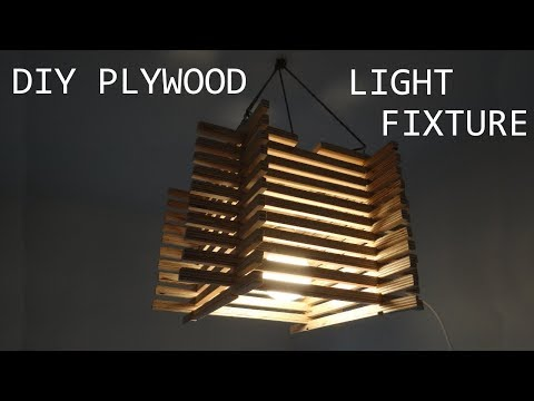 Making a Plywood Light Fixture