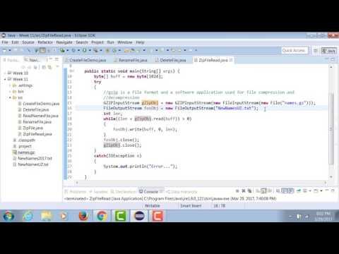 Unzip a GZIP File using Java