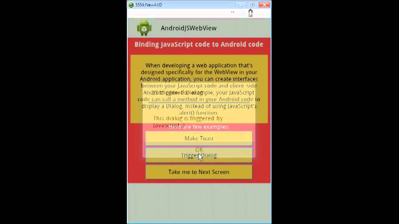 Binding JavaScript and Android Code – Example | Android Tutorial Blog