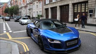 INSANE R8 V10 revving and driving in London!