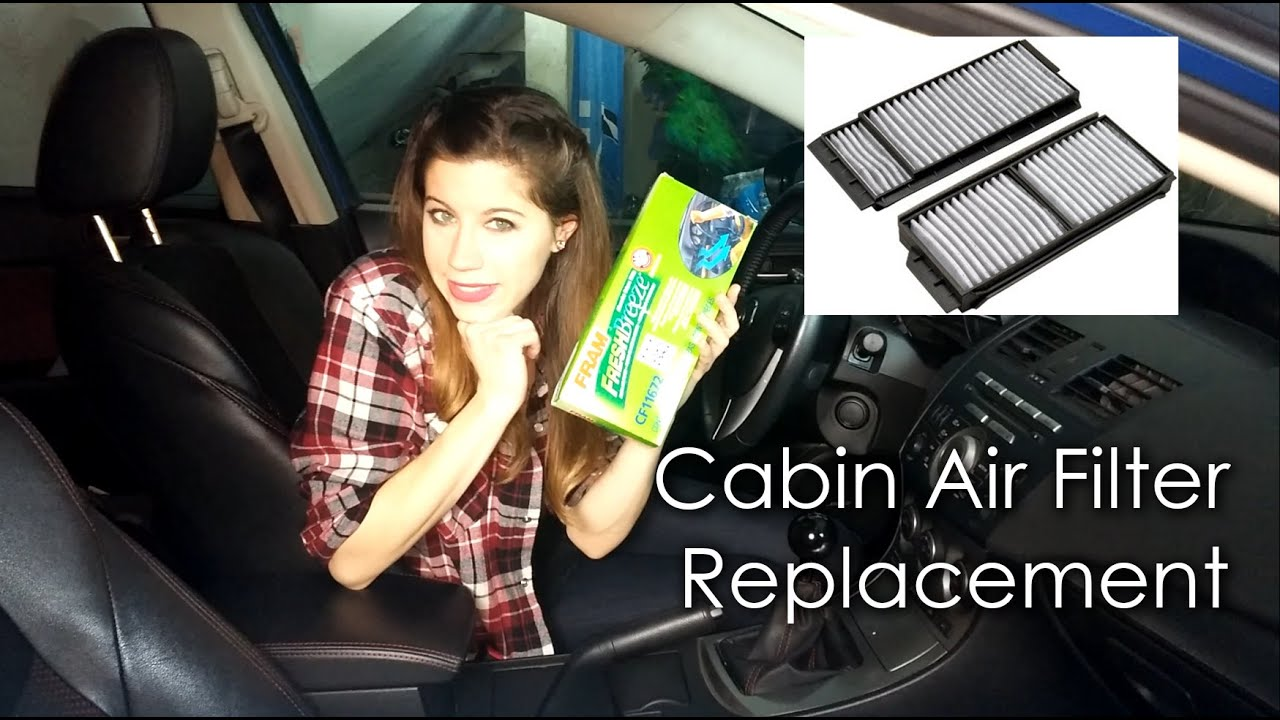 Cabin air filter replacement youtube for Replace cabin air filter mazda cx 5