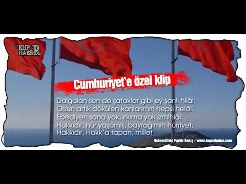 Alanya'da gururlandıran Cumhuriyet kutlaması
