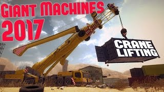 Giant Machines 2017 - Tornado Warning! - Crane Lifting & Wood Cutting - Giant Machines 2017 Gameplay
