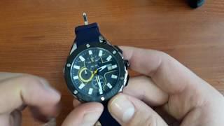 Обзор и настройка. Мужские часы Megir 2053 Racer Blue. Спортивные часы с хронографом