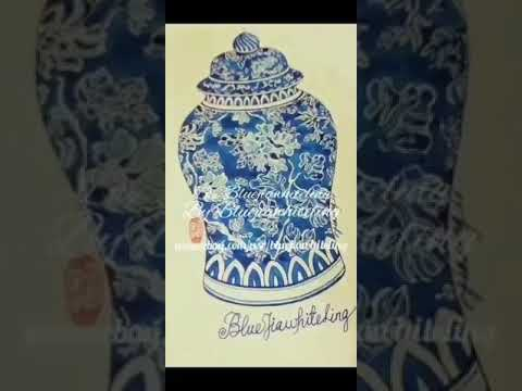 Chinese Vintage Blue & White Porcelain Ginger Jar cs1008 from YouTube · Duration:  31 seconds