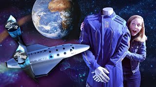 Inside Look: Virgin Galactic's new spacesuit (there's a barf bag!)
