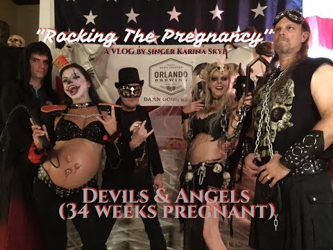 """Rocking The Pregnany"" (Ep18) Devils & Angels - Halloween and Yoga"