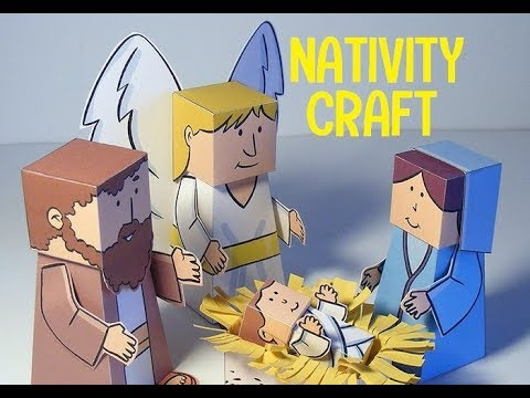 Nativity christmas crafts for preschoolers