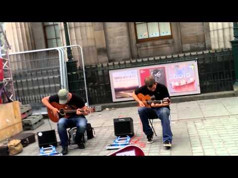 The Showhawk Duo - 90s dance mashup on guitar