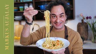 Spaghetti med vitlök och chili | Markus Aujalay