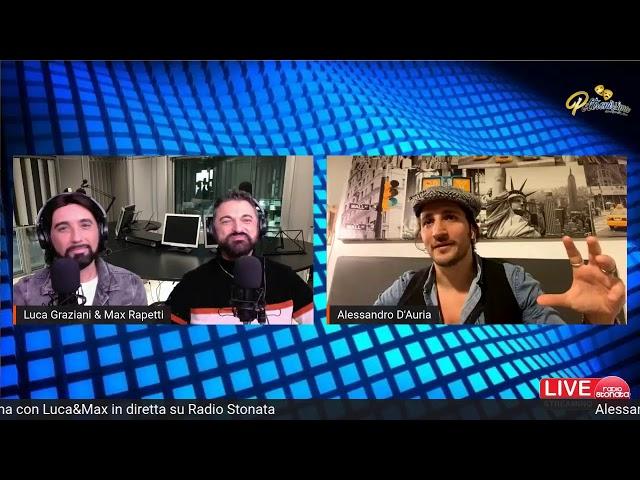 11.01.2021 Alessandro D'Auria ospite a Poltronissima in diretta su Radio Stonata