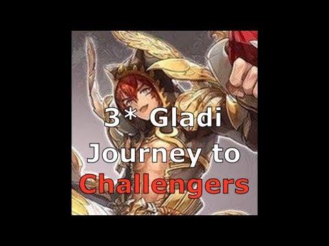 [King's Raid] Alt Gladi PvP long session 10 resets 3* UW Team!