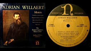 Adrian Willaert / Boston Camerata, 1975: Three Motets - Nonesuch LP