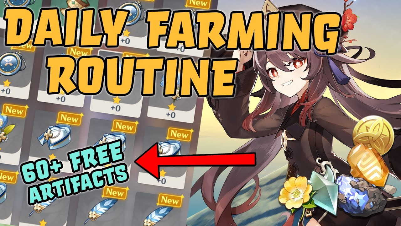 Download Farm with me! AR55 Artifact, Ore & Monster Daily Farming Route | Genshin Impact