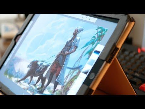 Efflam Mercier tests SketchBook Pro 4 0's new iPad interface