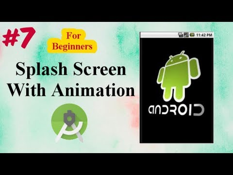Android tutorial in Hindi for Beginners #7   How to Create Animated Splash Screen. thumbnail