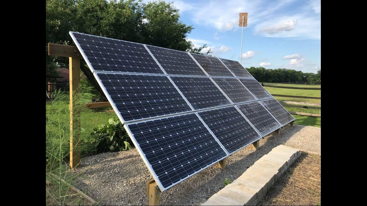 Diy Solar Episode 10 Building A Ground Mount Solar