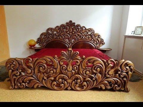 Деревянные кровати своими руками. Резные кровати. Резьба по дереву кровать