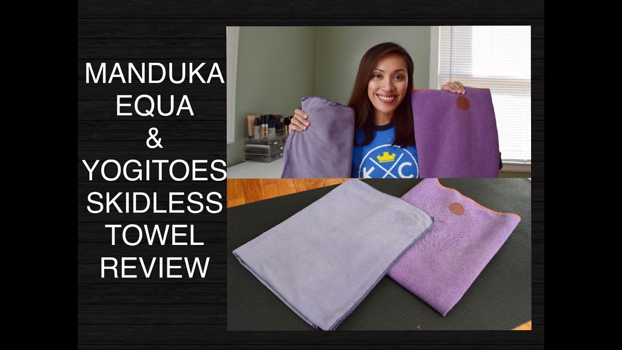 How Yogitoes towel works. The Yogitoes towel has designated top and bottom sides (dot-side down) to enable the users with good traction. The skid less technology of the towel helps to grip the mat well and prevents slipping irrespective of your movement or sweat.