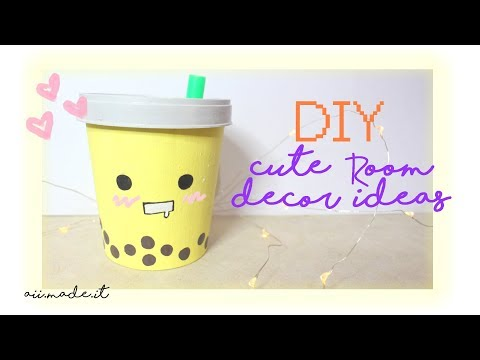 DIY Cute Room Decor Made from Paper Cups (Kawaii Milktea + Kawaii Popcorn)