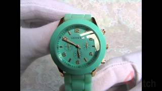 Часы наручные женские Geneva - мятный цвет. Обзор