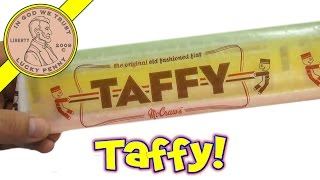 Mccraw's The Original Old Fashioned Flat Taffy - Usa Candy Tasting