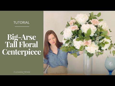 DIY Tall, Stemless Centerpiece by Flower Moxie   ~SUPER FAST TUTORIAL