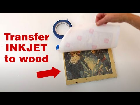 how to transfer an inkjet photo to wood youtube. Black Bedroom Furniture Sets. Home Design Ideas