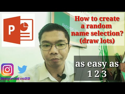 How To Create Random Name Selection Using PowerPoint 2016 (the Easy Way) TAGLISH | Tutorial Vlog #1