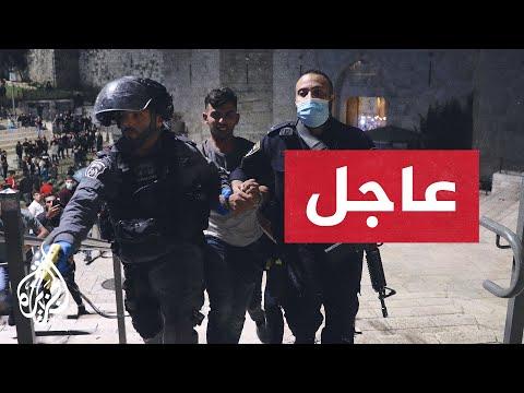 القوات الإسرائيلية تقتحم المسجد الأقصى وتعتدي على المصلين وتطلق الرصاص المطاطي