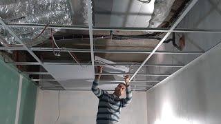 طريقة تركيب السقف المستعار الأرخص كلفة و الأسهل عملا