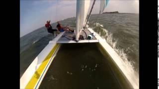 Catamaran Zeilen Muiderberg