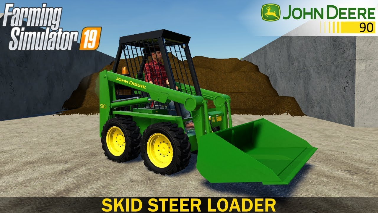 Farming Simulator 19 – JOHN DEERE 90 Skid Steer Loader with Shovel
