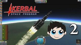 "Let's Play Kerbal Space Program (KSP) - Episode 2 ""Over-Powered Mun Rocket"""