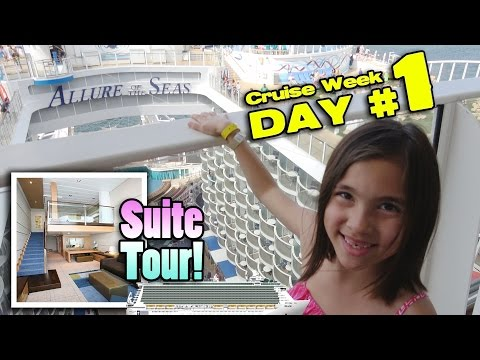 TWO STORY ROOM TOUR!! Royal Caribbean ALLURE OF THE SEAS Cro