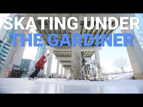 Preview of Toronto's public rink under the Gardiner Expressway