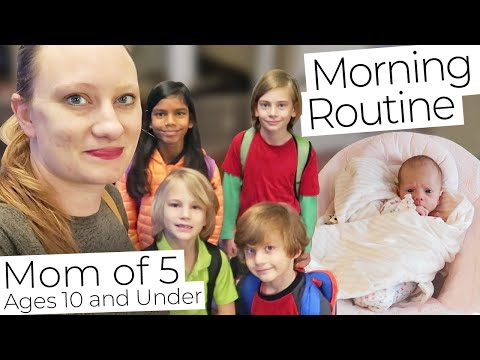 My 2020 MORNING ROUTINE As A Mom Of 5 KIDS Ages 10 Years Old And Under!