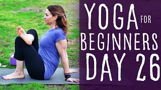 30 Minute Yoga For Beginners 30 Day Challenge Day 26 with Fightmaster Yoga